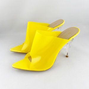 • Akira Azalea Wang Clear Yellow Heels •